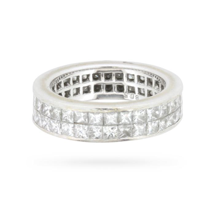 princess cut eternity ring farringdons jewellery
