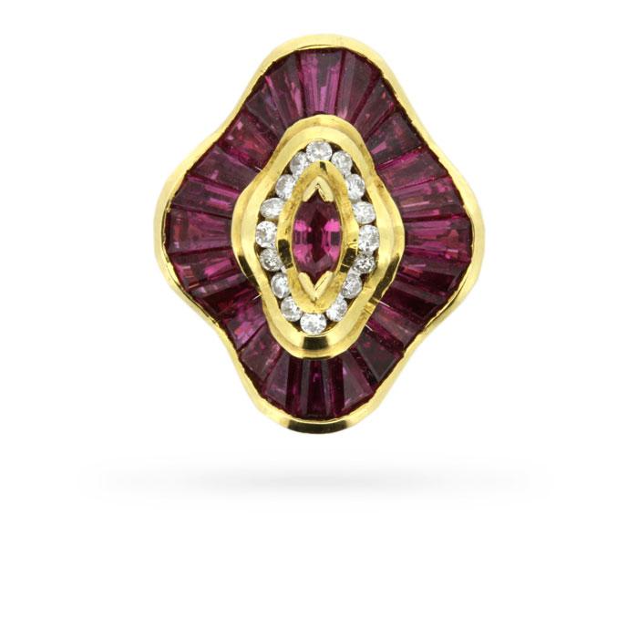 Convertible Ballerina Style 4 50 Carat Ruby And Diamond