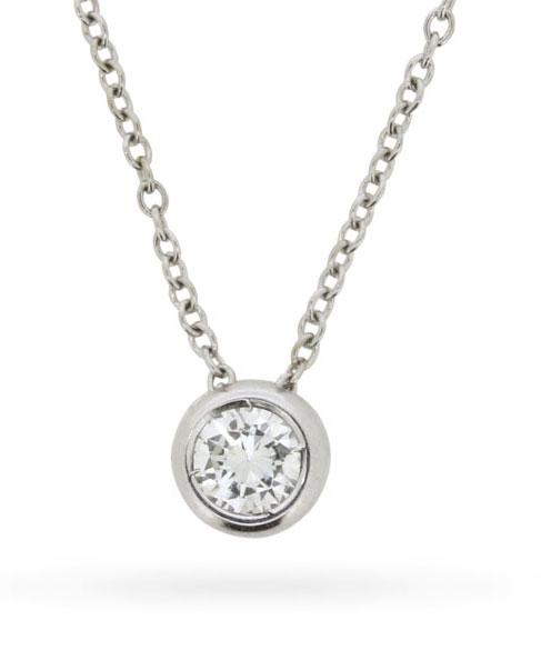 Tiffany & Co. Diamond Solitaire Pendant
