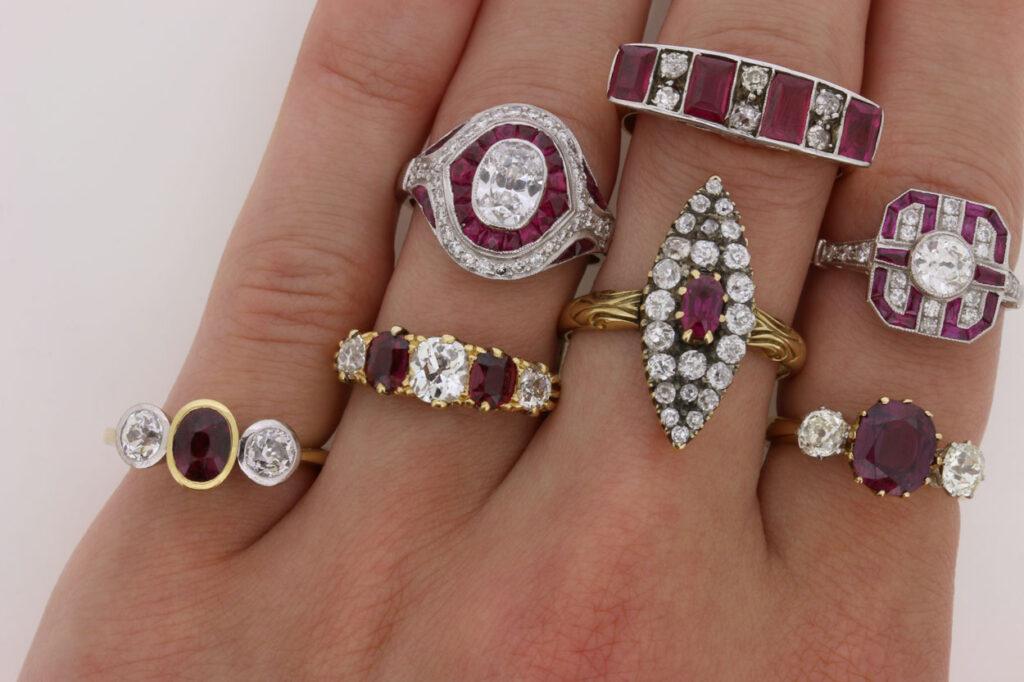Ruby rings